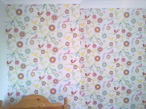 Wallpapering children bedroom in London (2)